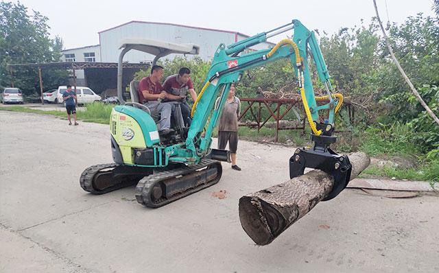 挖掘機 改裝夾木器